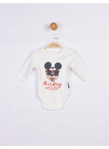 Mickey Mouse  Bebek Body 17199 Ekru